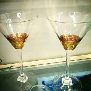 Gilded Martini Glasses